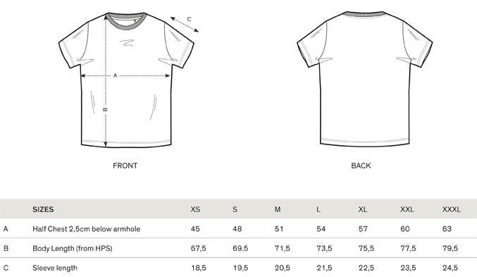sizes-t-shirts-m